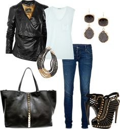 """""""Black and Gold"""" by deborah-simmons on Polyvore"""