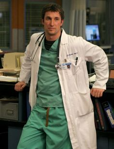 "Noah Wyle as John Carter on ""ER."" A ""doctor"" on hand just in case I needed the kiss of life!"
