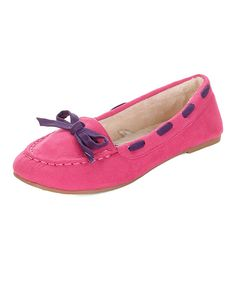 Look at this Jelly Beans Fuchsia Classic Viva Moccasin on #zulily today!