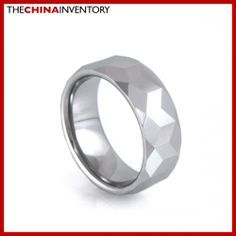 8MM SIZE 8 TUNGSTEN CARBIDE WEDDING BAND RING R1703