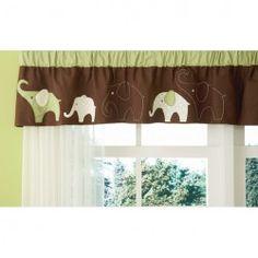 Green Elephant Valance