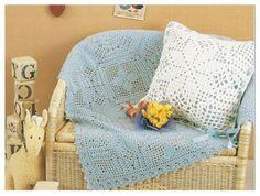 Delicadezas en crochet Gabriela: Mantilla y cojin