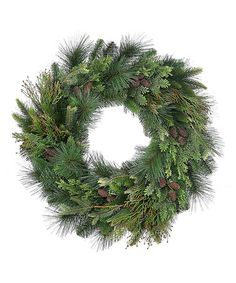 Take a look at this New England Pinecone Wreath by Regency International on #zulily today!