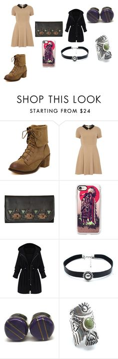 """""""Punk Pocahontas"""" by tara-chambler ❤ liked on Polyvore featuring mel, American West, Casetify, WithChic and Child Of Wild"""