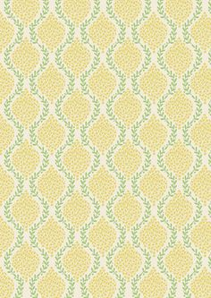 """Floral Garland Yellow Green"" Craft Cotton"