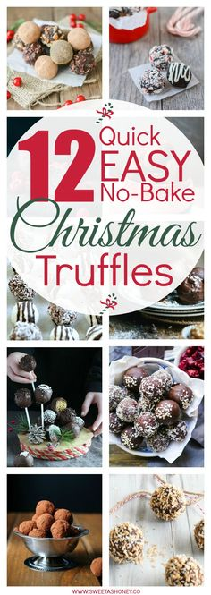 A collection of the best Christmas Truffles: easy + healthy and perfect to enjoy after Christmas dinner. Super simple healthy Christmas treats, gluten free,