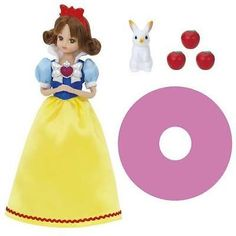 TAKARA-TOMY-JAPAN-LICCA-DOLL-PRINCESS-SNOW-WHIT-CARTOON-DVD-SET-NEW-LA39697
