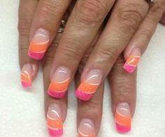 Pink & orange fluor mix