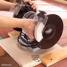 In-and-Out Bench-Top Tools - Go clampless with bench-top tools! Determine a base width you can use for all the smaller power tools you own—grinder, sander, drill press, scroll saw. Cut a base for each tool from 3/4-in. plywood with 45-degree bevels along both edges. Next, cut and screw 1-1/2-in.-wide boards with 45-degree bevels on your workbench for the tool bases to slide into. The tools will remain rock steady as you work and slide off when you're done.