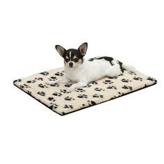 Slumber Pet Pawprint Dog Crate Mat, Small, Ivory - http://petproduct.reviewsbrand.com/slumber-pet-pawprint-dog-crate-mat-small-ivory.html