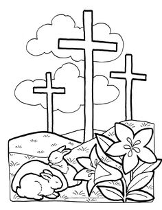 Easter Coloring Page!! <3  Mail by Feb 20 to get to sponsored kids for Easter 2014