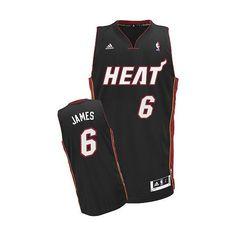 Miami Heat LeBron James Revolution 30 Swingman Road Jersey