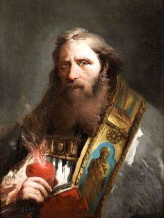 Giovanni Domenico Tiepolo (1727-1804): San Agustín.