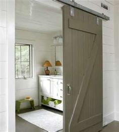 barn door inside - cute