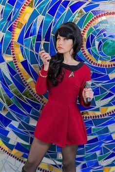 Star Trek: Beam me up Scotty! Photo by Star Trek Cosplay, Top Cosplay, Best Cosplay, Cosplay Girls, Star Trek Kostüm, Star Trek Theme, Star Trek Show, Star Trek Outfits, Enchantress Cosplay