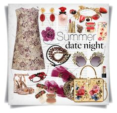 """Summer Date Night: Dolce&Gabbana style"" by imbeauty ❤ liked on Polyvore featuring Oris, Dolce&Gabbana and summerdatenight"