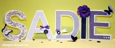 Future daughter name. I hope! 3d Paper, Paper Crafts, Diy Crafts, 3d Letters, Paper Letters, Cute Baby Names, Name Cards, Flower Making, Sadie