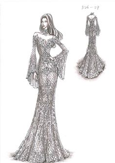 Black and white drawings Outfit inspirations Informations About Schwarz-Weiß-Zeichn Dress Design Sketches, Fashion Design Drawings, Fashion Sketches, Couture Fashion, Fashion Art, Fashion Models, Fashion Outfits, Fashion Drawing Dresses, Fashion Illustration Dresses