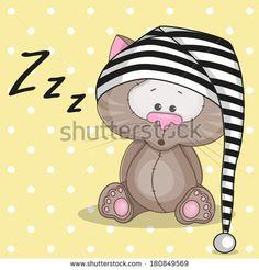 Sleepy cat in a cap