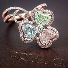 PrimaGems: A Charming Natural Fancy Colored Diamond Ring.