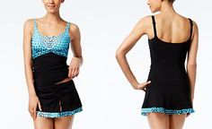Profile by Gottex Cocoon Printed Tankini Top & Swim Skirt