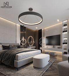 Modern Luxury Bedroom, Master Bedroom Interior, Home Room Design, Master Bedroom Design, Luxurious Bedrooms, Home Decor Bedroom, Bedroom Furniture, House Design, Autocad