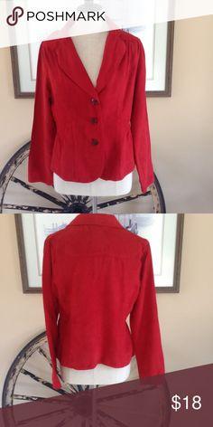 Burnt Orange Blazer Fitted Blazer is a burnt orange color. 100% soft feeling polyester. Jackets & Coats Blazers
