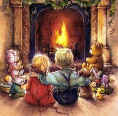 Illustration by Lisi Martin Christmas Scenes, Christmas Pictures, Christmas Art, Christmas Graphics, Spanish Christmas, Christmas Holidays, Yule, Illustration Noel, Ouvrages D'art