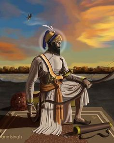 Amazing Indian / Pakistani painting of Guru Gobind Singh Ji # Sikism # Sikpanting # Punjabrt # Indianpointing # Sikguruat # Gurugobindsingji # Sikrtwrk Guru Nanak Ji, Nanak Dev Ji, Bhagat Singh Wallpapers, Sikhism Religion, Guru Hargobind, Guru Nanak Wallpaper, Radha Soami, Shivaji Maharaj Hd Wallpaper, Golden Temple Amritsar