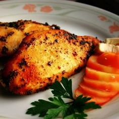 Mondi's Super Simple Chicken Allrecipes.com   Trying this tonight...added thyme as someone recommended in the comments and we will see how it taste shortly.