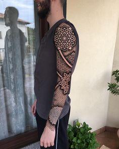 Digital project for Sebastiano Mian – Tattoo Pattern Geometric Tattoo Sleeve Designs, Geometric Tattoos Men, Maori Tattoo Designs, Mandala Tattoo Design, Tribal Tattoos, Maori Tattoos, Mandala Tattoo Leg, Geometric Mandala Tattoo, Full Sleeve Tattoos