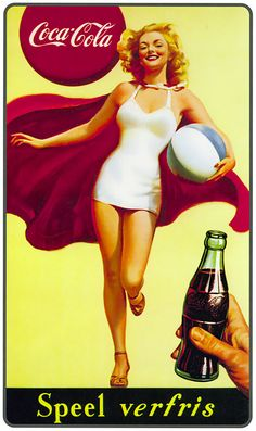 German vintage coca cola pin up