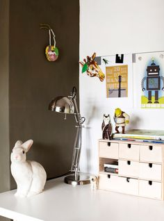 Ikea wooden storage drawers.