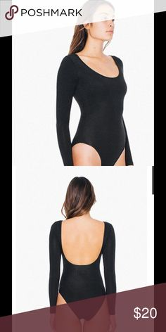NEW! Long  sleeve bodysuit AA Back In Stock for fall winter, cotton elastin bodysuit ! Bikini bottom, scoop back. PRICE FIRM American Apparel Tops Tees - Long Sleeve
