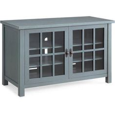 Better Homes and Gardens Oxford Square Blue TV Stand and Console Is Designed to Accommodate Flat Panels TVs up to up to 135 lbs Better Homes & Gardens Blue Tv Stand, 55 Tv Stand, Tv Stands, Night Stands, Farmhouse Tv Stand, Farmhouse Decor, Modern Farmhouse, Farmhouse Garden, Industrial Farmhouse
