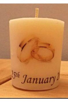 Wedding Favour Candle 4.5 X 4cm