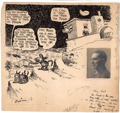 George Herriman: Krazy Kat specialty piece original art from the collection of Jerry Robinson (1920's)  (Source: All Star Auctions)