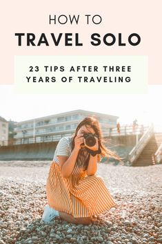 23 Tips For Traveling Alone: How To Rock Your First Solo Trip 23 Tips For Traveling Alone: How To Rock Your First Solo Trip,Solo Female Travel After three years of traveling the world, here are twenty three tips for women traveling alone Like: Solo Travel Tips, Travel Advice, Travel Guides, Travel Hacks, Travel Essentials, Travel Checklist, Travel Channel, Travel Stuff, Budget Travel