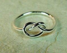 Sterling Love Knot Ring / Mother Daughter Ring / Best Friend Ring / Sisters Ring / Promise Ring / Infinity Ring. $18.00, via Etsy.