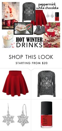 """""""Peppermint White Chocolate"""" by mary-grace-see ❤ liked on Polyvore featuring interior, interiors, interior design, home, home decor, interior decorating, Amanda Rose Collection, NARS Cosmetics and hotwinterdrinks"""