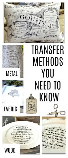 Transfer Methods for Your Next Project Six transfer methods that will help you create something new from a thrift store find. Six transfer methods that will help you create something new from a thrift store find. Upcycled Crafts, Diy Projects To Try, Sewing Projects, Do It Yourself Projects, Sewing Tips, Fun Crafts, Diy And Crafts, Creative Crafts, Preschool Crafts