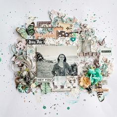 2Crafty Chipboard - 'Hey You' layout  by Lisa Amiet