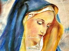 Original Oil Painting, Virgin Mary Painting,Canvas Painting,Fine Art Painting,Christian Wall Art,Bedroom Wall Hanging#virginmary#Painting#CatholicPainting#ReligousArt