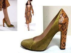 CHLOE RUNWAY ~SEASON SNAKESKIN LUST SENSATION~ HEELS PUMPS $695 38 US-7.5 7 1/2 in Clothing, Shoes & Accessories, Women's Shoes, Heels | eBay