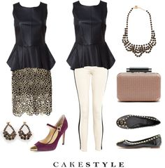 """""""How To Wear a Peplum Leather Shell"""" by cakestyle on Polyvore"""