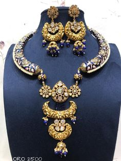 Designer Jewellery available at Ankh Jewels Booking on Royal Jewelry, India Jewelry, Jewelry Sets, Fine Jewelry, Jewelry Design Drawing, Designer Jewellery, Necklace Designs, Statement Jewelry, Lehenga