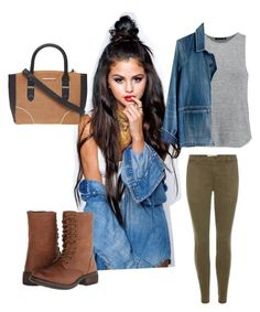 """""""Army jeans and combat boots outfit 1"""" by katyparis-1 on Polyvore featuring Steve Madden, Dorothy Perkins, rag & bone, Madewell and Current/Elliott"""