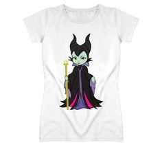 Cartooned Maleficent Angelina Jolie Inspired T Shirt