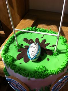 Rugby birthday cake