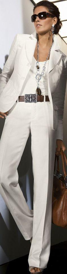 White blazer, white under shirt